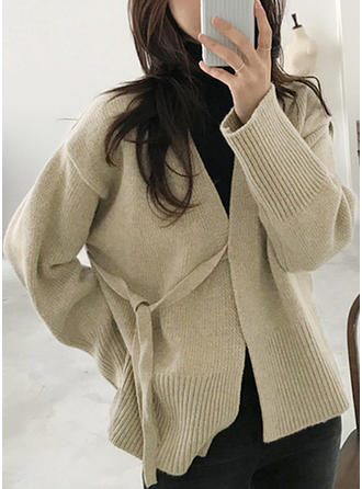 Jednolity Dekolt w kształcie litery V Swetry
