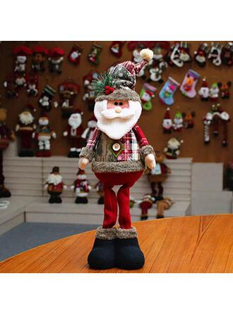 Navidad Monigote de nieve Reno Papa Noel Algodón Muñeca Adornos Navideños