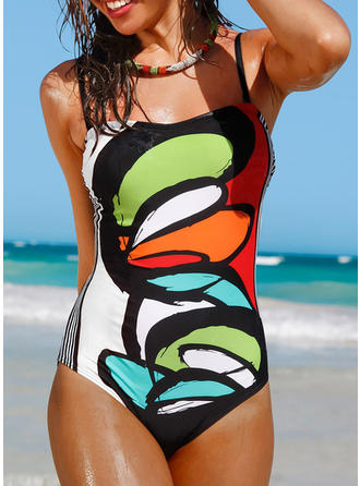 Floral Strap U Neck Sexy One-piece Swimsuits