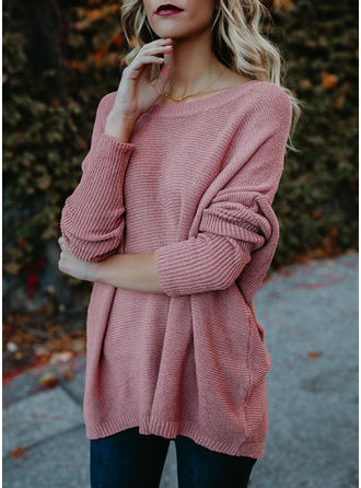 Cable-knit Round Neck Sweaters
