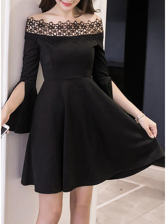 Cotton With Stitching Above Knee Dress