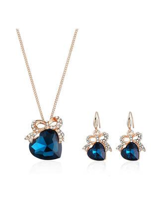 Świecący Stop Cyrkonie Szkło Z Stras/ Krysztal Górski Dla kobiet Zestawy biżuterii (Zestaw 2)