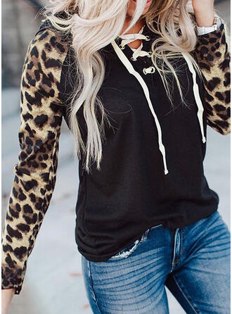 Leopardo Manga larga con capucha