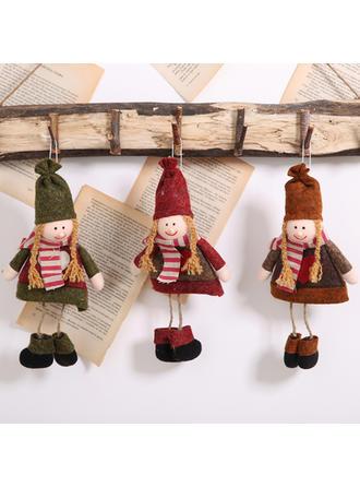 Feliz Navidad Colgando Tela Adornos colgantes de árboles Muñeca