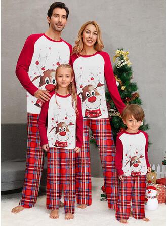 Trozos de color Tela escocesa Impresión Familia a juego Pijamas De Navidad