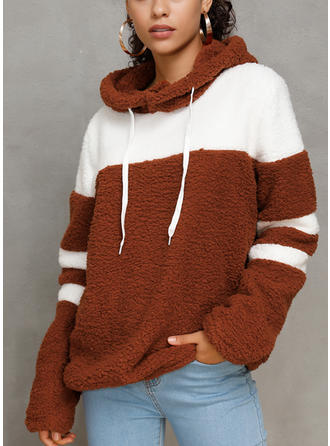 Polyester Color Block Hoodie