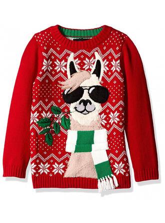 Unisex Polyester Tierdruckmuster Hässlicher Weihnachtsstrickjacke