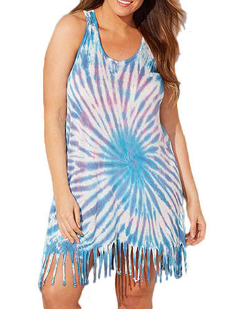 Colorful U Neck Cover-ups Swimsuit