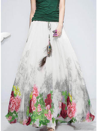 Chiffona Stampa Floreale Maxi gonne a gonna