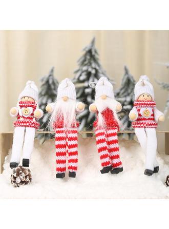 Gnomo Navidad Ángel Colgando Tela Adornos colgantes de árboles Muñeca (Juego de 2)