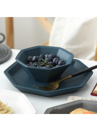 Contemporary Porcelain Dinnerware Sets (Set of 2)