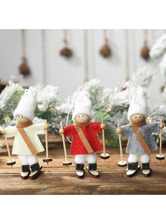 Feliz Navidad Trineo Ángel Colgando Tela Adornos colgantes de árboles Muñeca