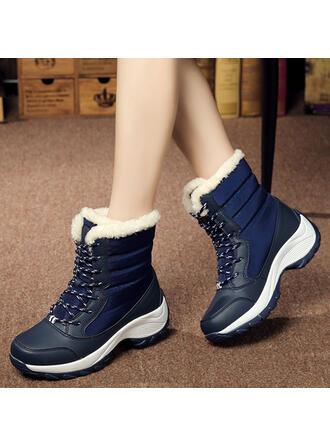 Vrouwen Zeildoek Wedge Heel Wedges Laarzen Winterlaarzen met Vastrijgen schoenen