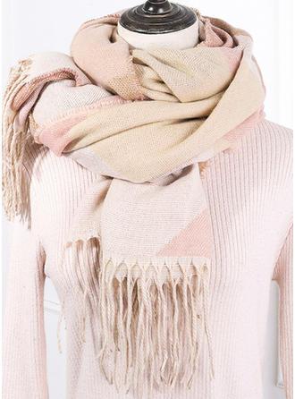 Color Block/Tassel efterspurgte/Koldt vejr Halstørklæde
