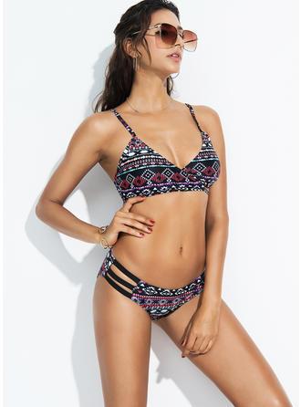 Seksowny Kolorowy Pasek Bikinis Kostium kąpielowy