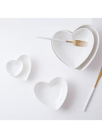 Heart Shape Porcelain Dessert Bowls (Set of 5)