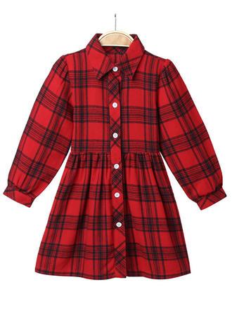 Dziewczyny Pled Nieformalny Sukienka