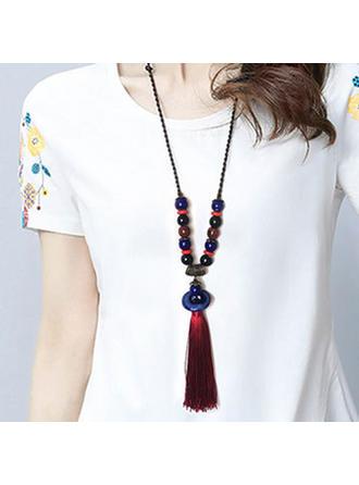 Divatos Ötvözet Kerámiai -Val bojt Női divat nyaklánc