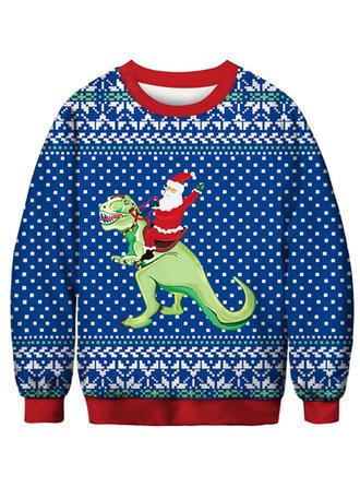 Unisexe Polyester Spandex Inmprimé Dessin Animé Sweat de Noël