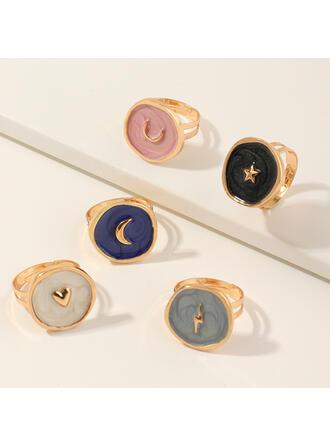 Stylový Slitina Prsteny