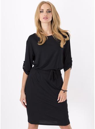 Polyester Knee Length Dress