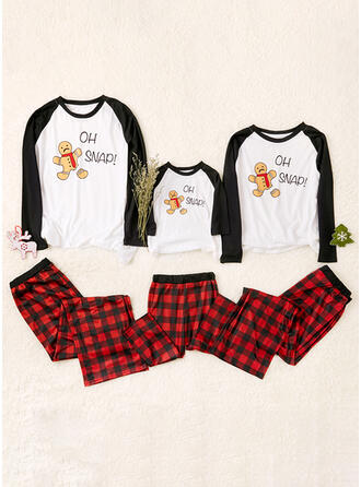 Plaid Print Familie Matchende Pyjamas
