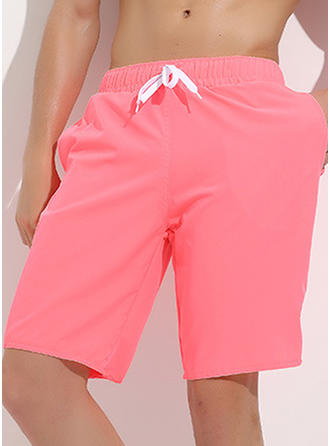 Mænd Solid Color Board shorts badedragt