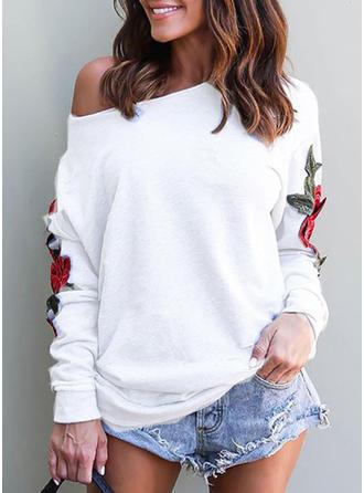 Cotton Embroidery Sweatshirt
