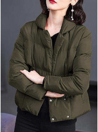 Polyester Cotton Long Sleeves Patchwork Down Coats