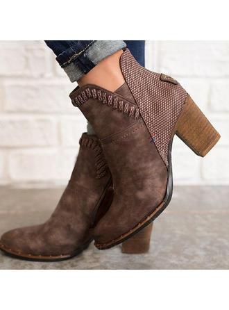 Femmes Suède Talon bottier Bottines avec La copie Animale chaussures