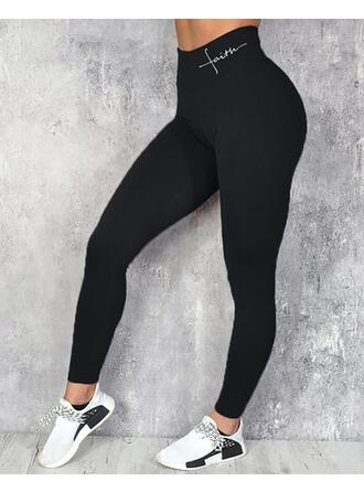 Print Long Casual Sexy Sporty Print Leggings