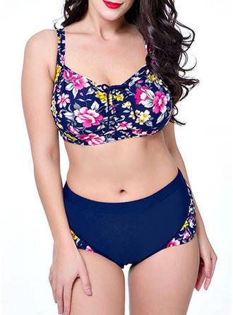 Fleuris Armature À Bretelles Élégante Bikinis Maillots De Bain
