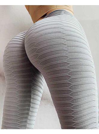 Solid Uzun gündelik Sexy Uzun Sportif Tayt