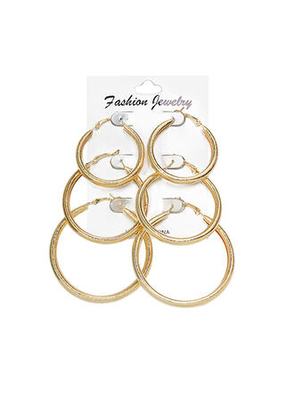Stylish Alloy Earrings (Set of 3)