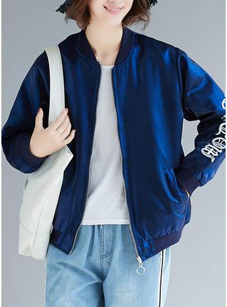 Polyester Long Sleeves Print Jackets