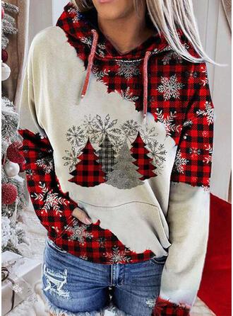 Impressão Grelha Manga comprida Camisola de Natal