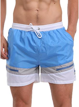 Men's Splice color Quick Dry Swim Trunks
