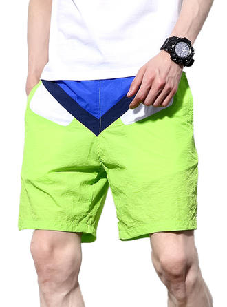 Men's Splice color Board Shorts Swimsuit