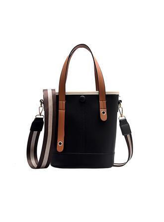De moda/Antiguo/Color sólido/Super conveniente Bolsas de mano/Bolso de Hombro/Bolsas de cubo