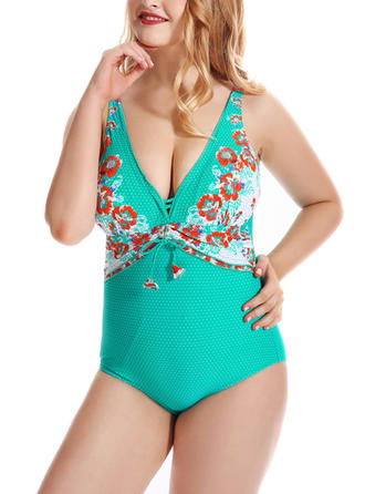 Floral Strap One-piece Swimsuit