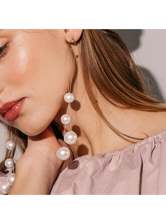 Beautiful Alloy Imitation Pearls Earrings