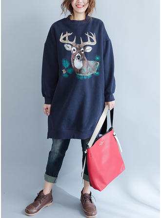 Cotton Blends Print Sweatshirt
