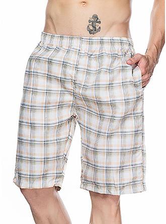 Pour des hommes Grille Inmprimé Shorts de planche Maillot de bain