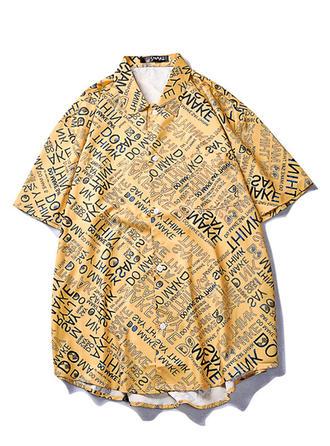 Mænd Letter Hawaii Beach Shirts