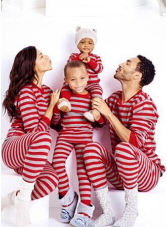 Striped Tenue Familiale Assortie Pyjama De Noël