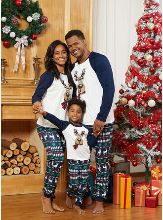 Deer Print Family Matching Christmas Pajamas