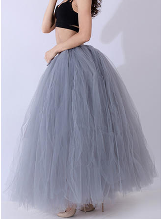 Nylon Color Block Maxi A-Line Skirts