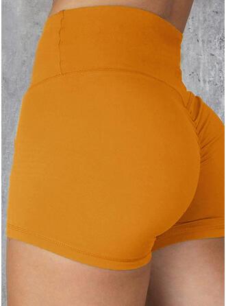 Color sólido Shorts deportivos