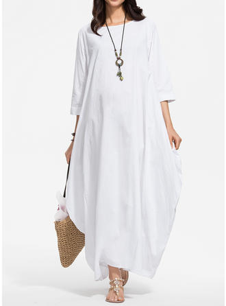 3/4 Sleeves Maxi Dresses