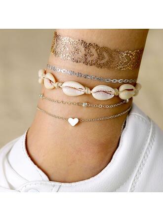 Shell Alloy Bracelets Beach Jewelry (Set of 3)